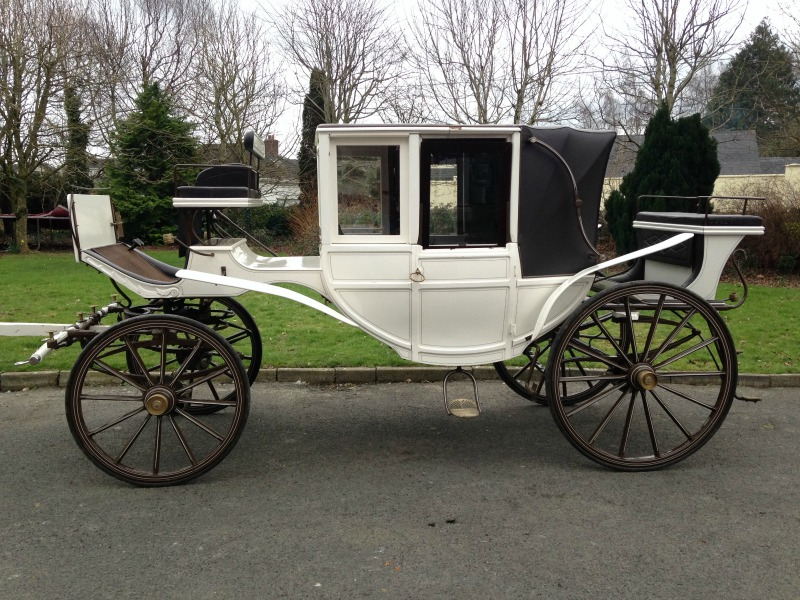 melia carriages white wedding carriage